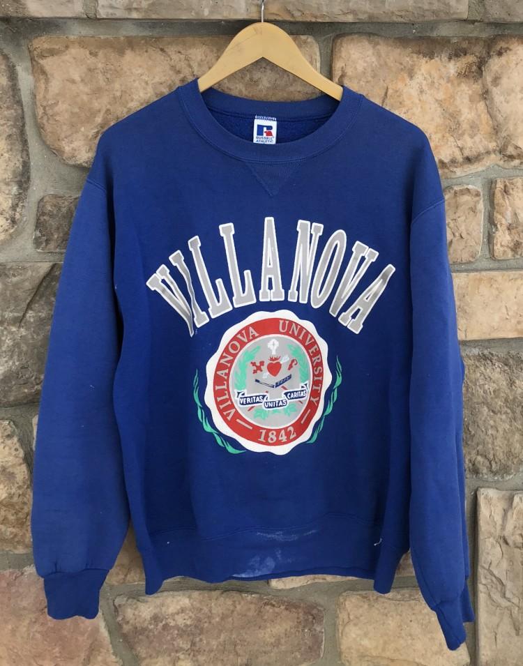 1938c0887 80 s Villanova University Wildcats Russell Athletic Crewneck sweatshirt  size Large vintage OG march madness