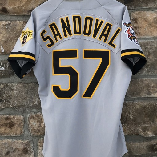 1994 Pittsburgh Pirates Authentic Team issued Rawlings MLB jersey size 40 #57 Sandoval