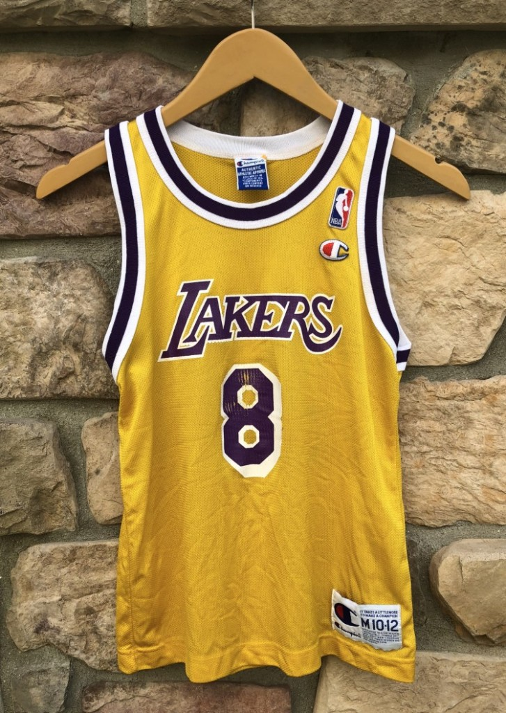 reputable site 3465e a257e 1996 Kobe Bryant Los Angeles Lakers Champion NBA Jersey Youth Medium