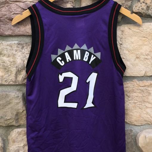 1997 Toronto Raptors Marcus Camby Champion NBA jersey youth size medium