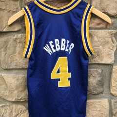 1994 Chris Webber Golden State Warriors Champion NBA jersey youth size small