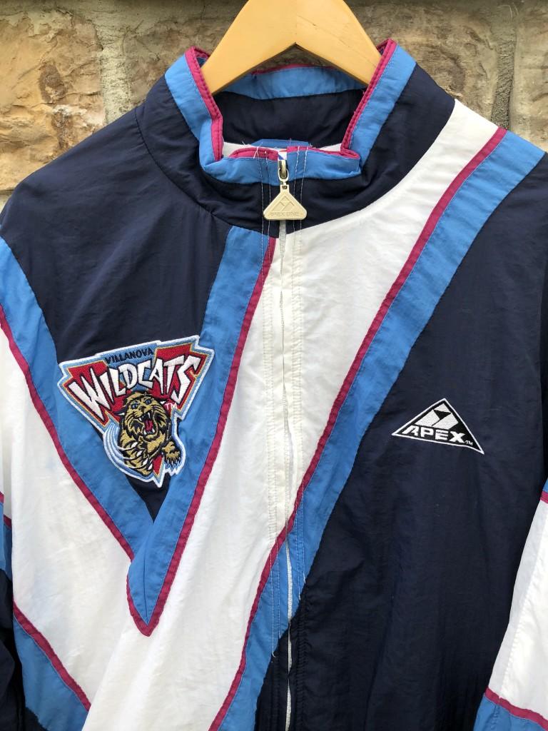 3e7ab311ba3c05 90 s Villanova Wildcats vintage Apex One NCAA windbreaker jacket size large  team issued
