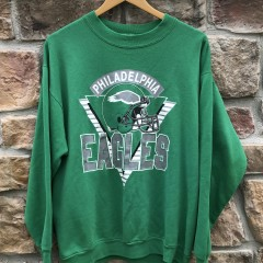 90's vintage Philadelphia Eagles kelly green crew neck sweatshirt OG