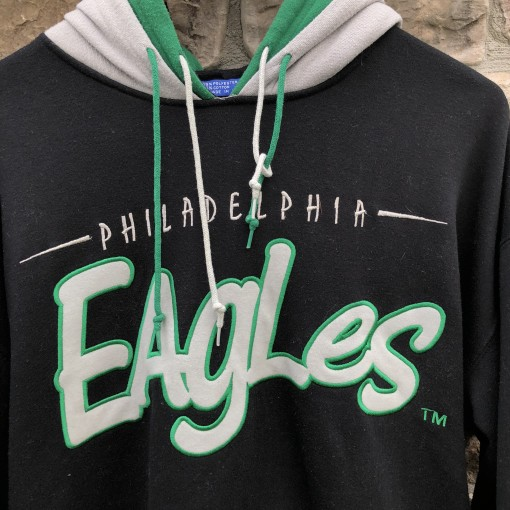 90's Philadelphia Eagles Starter Double hooded sweatshirt size large