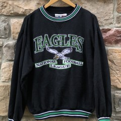 90's Philadelphia eagles logo athletic vintage kelly green nfl crew neck sweatshirt size medium