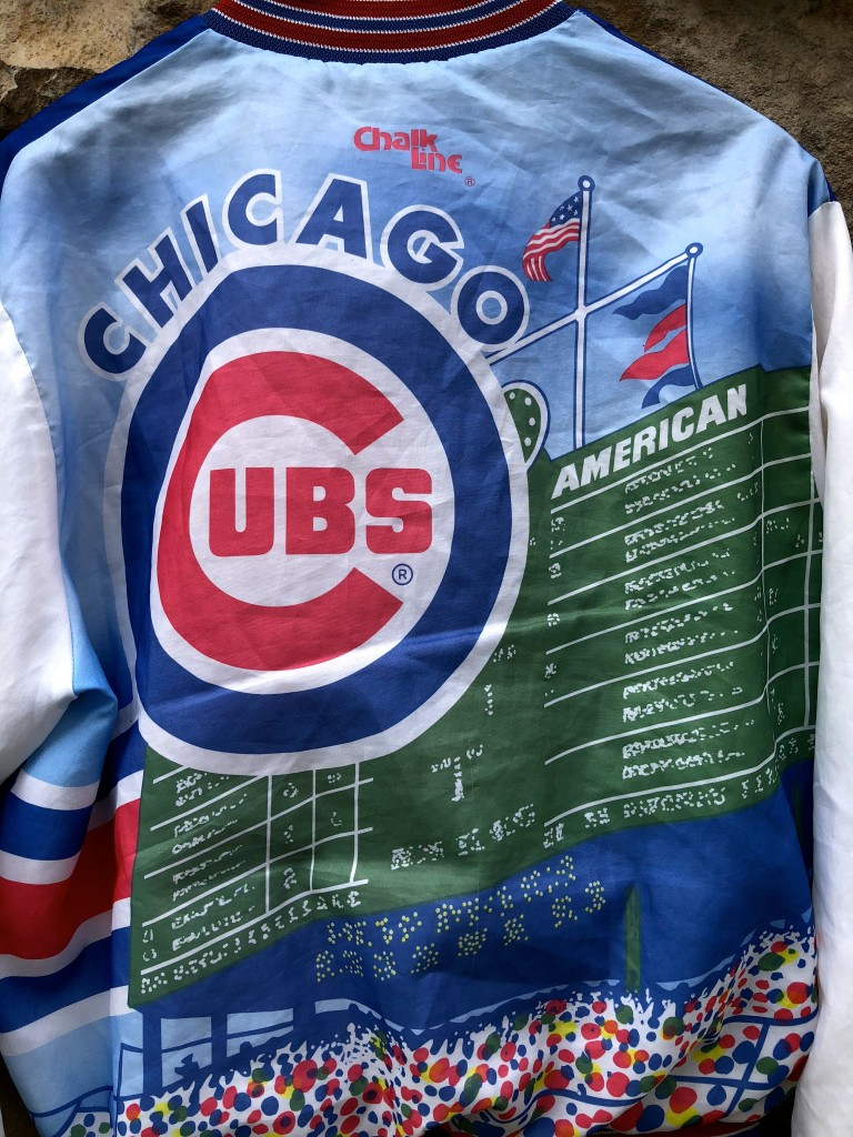a5cc93f29a5 vintage 90 s Chicago Cubs Chalkline Fanimation MLB jacket size Large