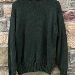 vintage 90's Polo Ralph Lauren USA Flag knit crewneck sweatshirt size Large Green