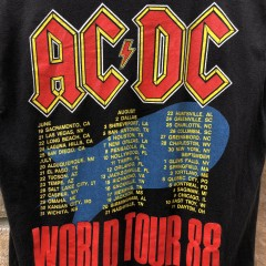 1988 ACDC Heat Seeker World Tour Concert t shirt size large