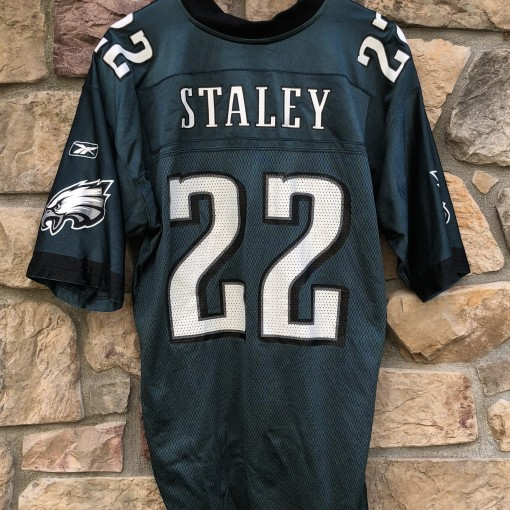 2004 Duce Staley Philadelphia Eagles Reebok NFL jersey size Large Vintage