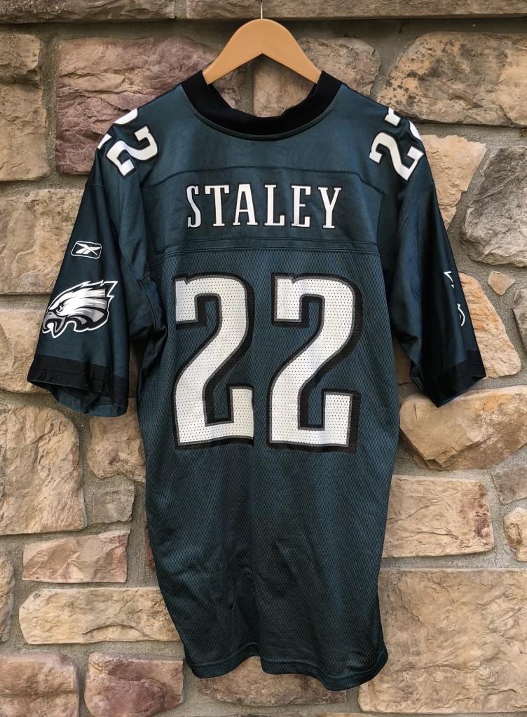 2004 Duce Staley Philadelphia Eagles Reebok NFL jersey size Large Vintage 0368cf0a4