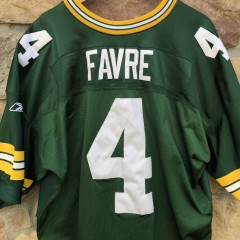 2001 Brett Favre Green bay Packers Reebok authentic NFL jersey size 56 helmet tag