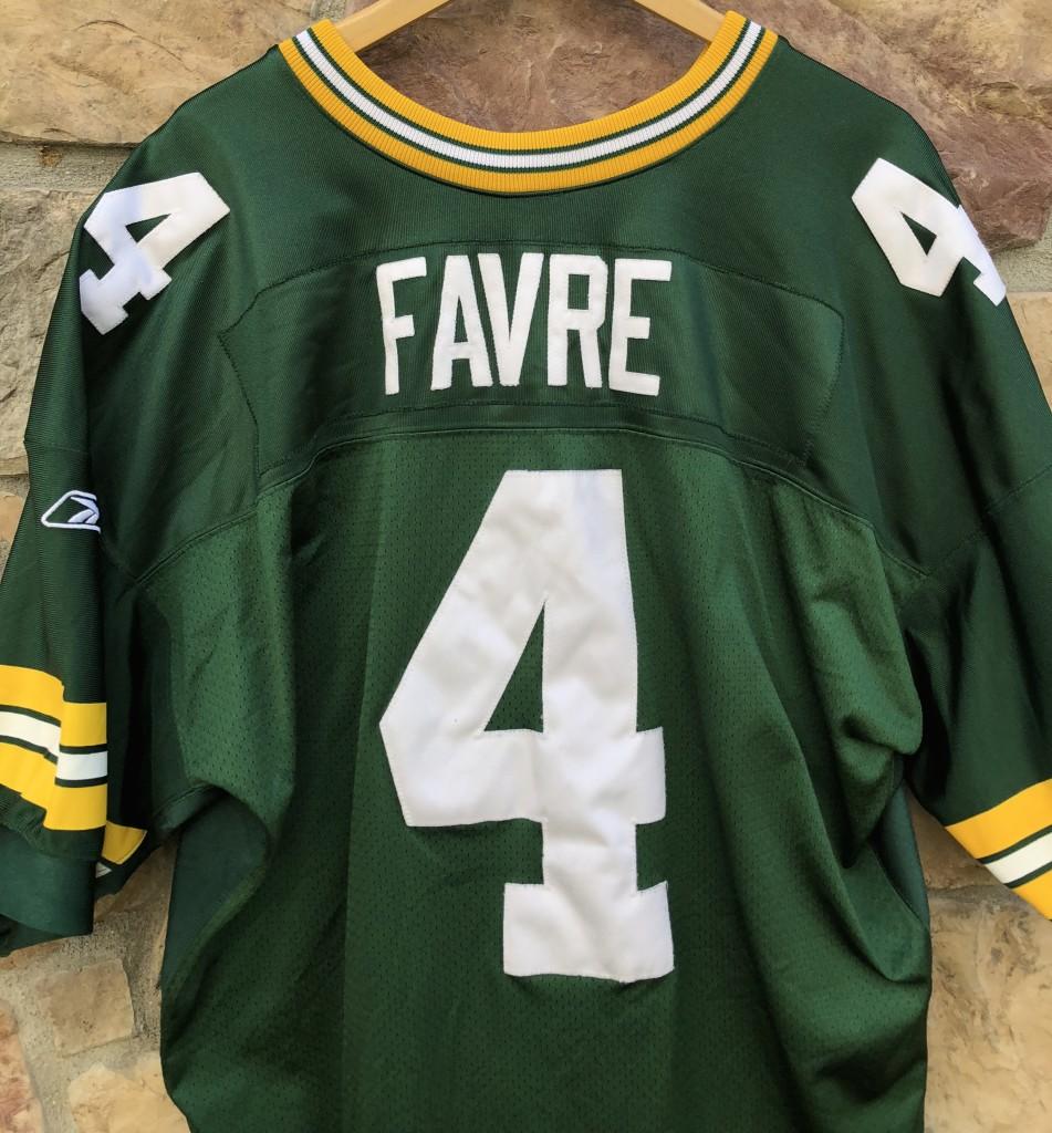 2001 Brett Favre Green bay Packers Reebok authentic NFL jersey size 56  helmet tag 8e27c637d