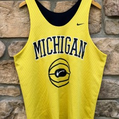 90's University of Michigan Wolverines Nike reversible basketball practice jersey size large fab 5