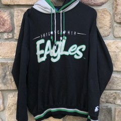 90's Philadelphia Eagles Starter Double hooded nfl sweatshirt size XL