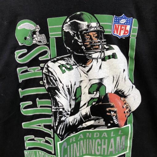 90's Randall Cunningham Nutmeg Philadelphia Eagles vintage t shirt size large