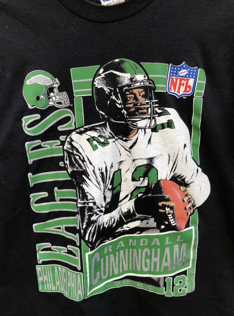 4086614b294 90's Randall Cunningham Nutmeg Philadelphia Eagles vintage t shirt size  large