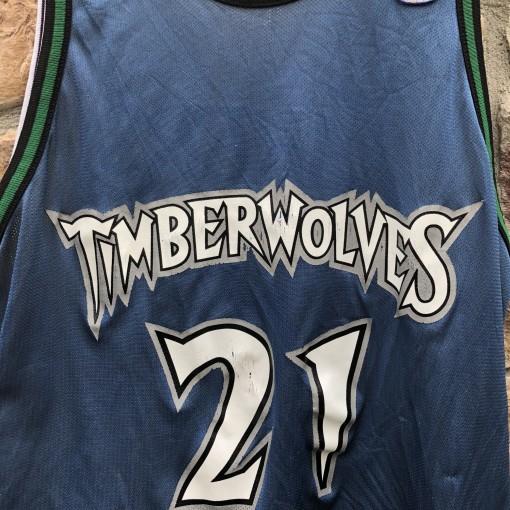 1998 Champion Kevin Garnett Minnesota Timberwolves Kobe Bryant Los Angels Lakers reversible NBA jersey size 44 large