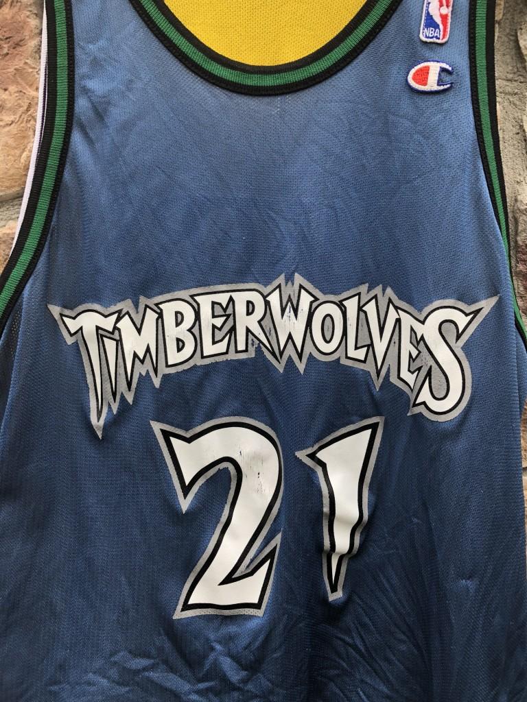 b710e2331ed 1998 Champion Kevin Garnett Minnesota Timberwolves Kobe Bryant Los Angels  Lakers reversible NBA jersey size 44