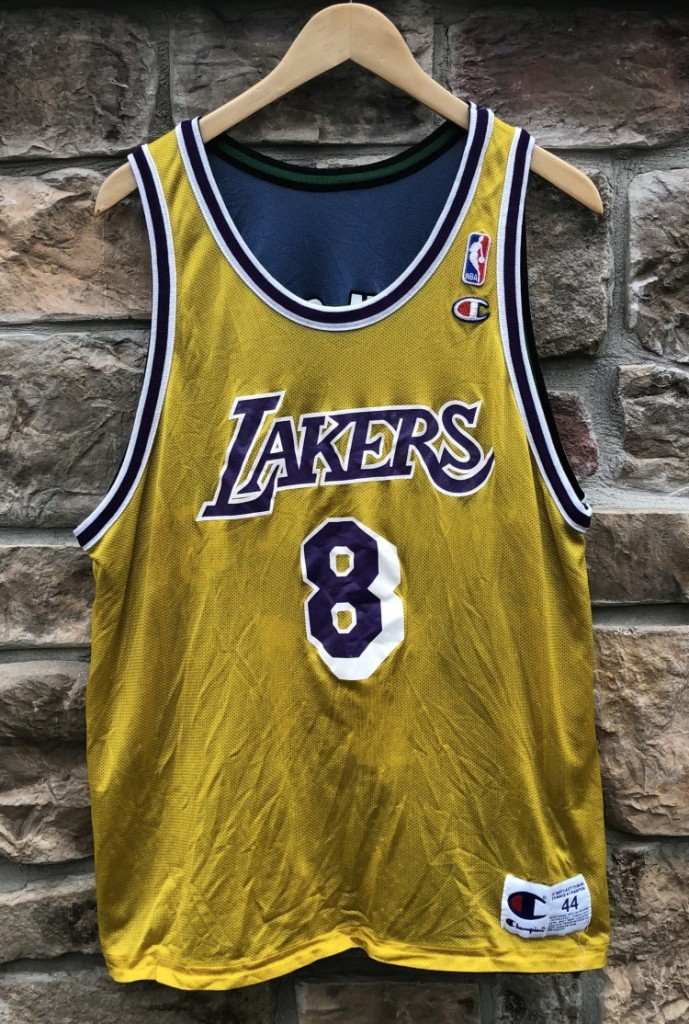 quality design ff068 6da64 1998 Kobe Bryant LA Lakers Kevin Garnett Timberwolves Champion Reversible  NBA Jersey Size 44