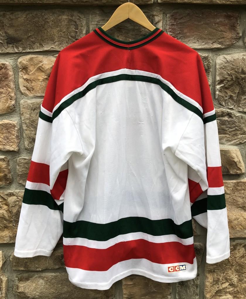 90 s New Jersey Devils Green CCM NHL Hockey Jersey Size XL  488aee826