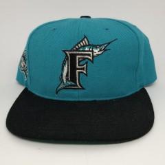 90's Florida Marlins American Needle blockhead MLB snapback hat