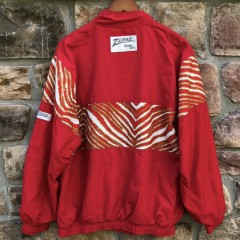 90's San Francisco 49ers Zubaz  Chalkline windbreaker jacket size large