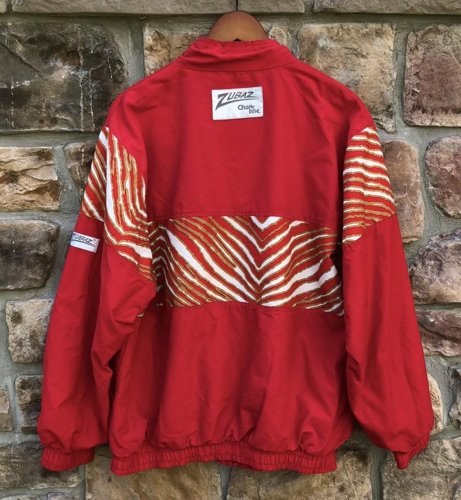 552305003 90 s San Francisco 49ers Zubaz Chalkline windbreaker jacket size large