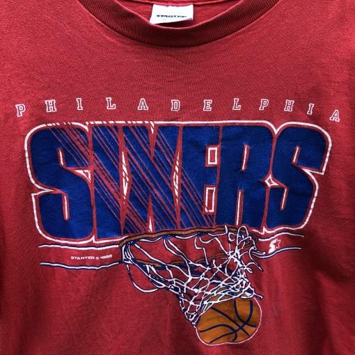1988 original 80's Philadelphia Sixers 76ers Starter NBA T shirt vintage
