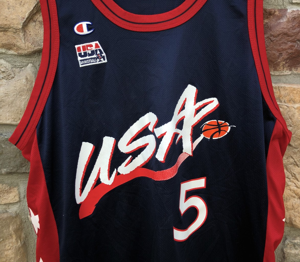 3b987b22ebf 1996 Grant Hill Team USA Champion OLympic basketball jersey vintage size 44  large