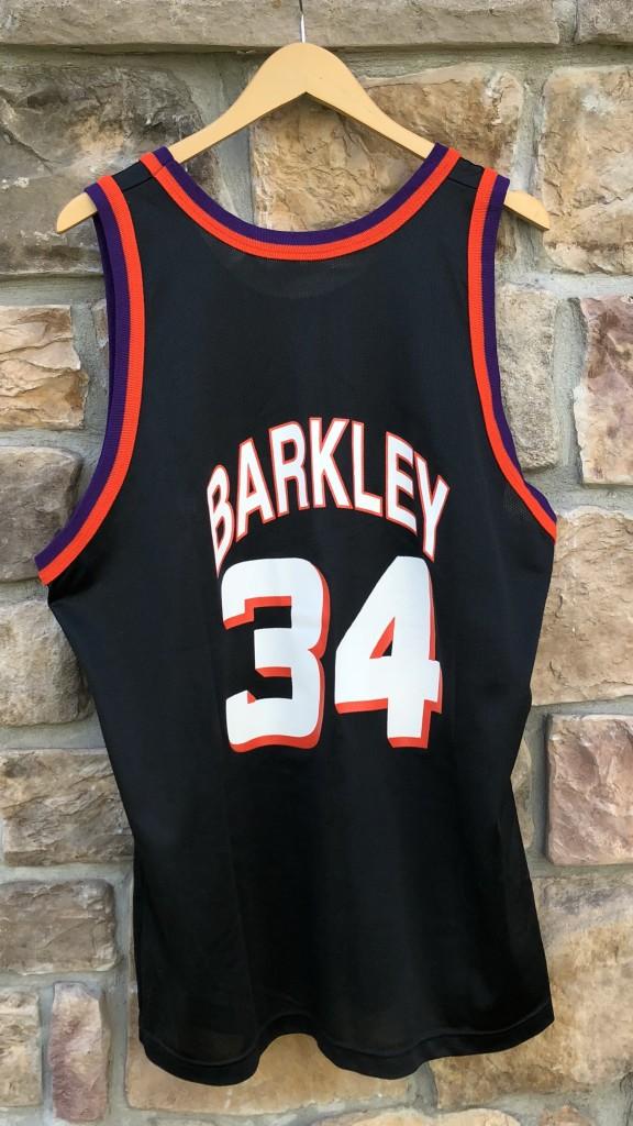 90s Charles Barkley Phoenix Suns Black Champion alternate Vintage NBA  jersey size 48 XL 9b1ad41e7