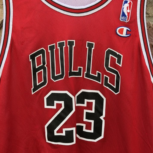 90's Michael jordan Chicago Bulls reversible champion vintage NBA jersey size youth large