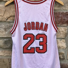 90's Michael jordan Chicago Bulls reversible champion vintage NBA jersey size youth large