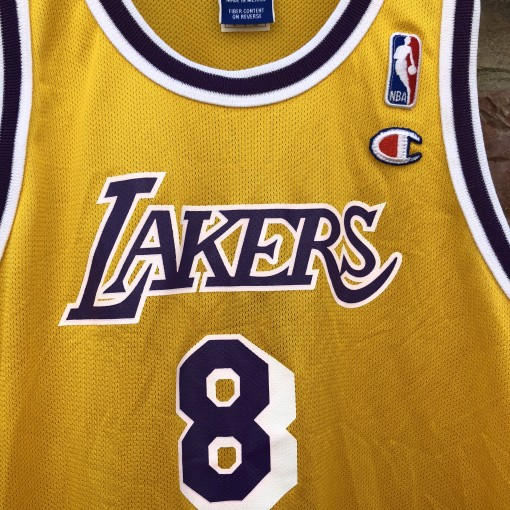 90's Champion vintage Los Angeles Lakers kobe bryant rookie jersey size youth large