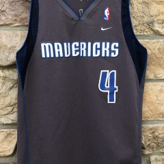 2003 Michael Finley Dallas Mavericks Nike Swingman vintage NBA jersey grey alternate trash bag jersey size Large
