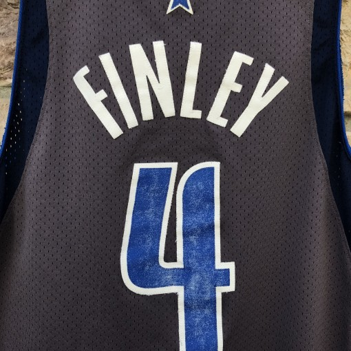 2003 Michael Finley Dallas Mavericks Nike Swingman vintage NBA jersey grey alternate trash bag jersey size Large