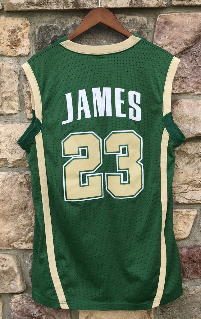2003 St. Vincent St. Mary s Irish LeBron James Nike talented   gifted  swingman jersey a57b0d6cf