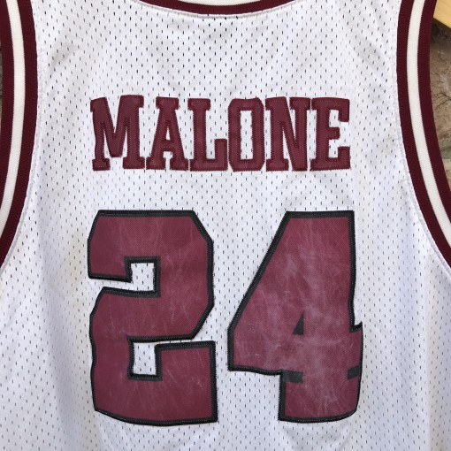 1974 Petersburg High School Crimson Wave Moses Malone Nike talented & gifted swingman jersey size XL
