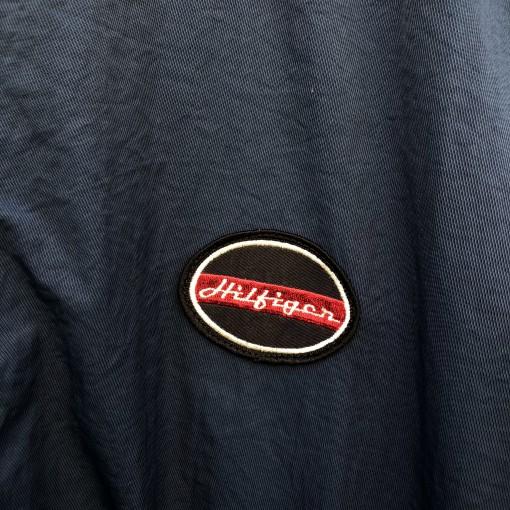 90's Tommy Hilfiger Retro Motorcycle style windbreaker jacket size XL