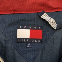 90's Tommy Hilfiger Retro Motorcycle style windbreaker jacket size XL