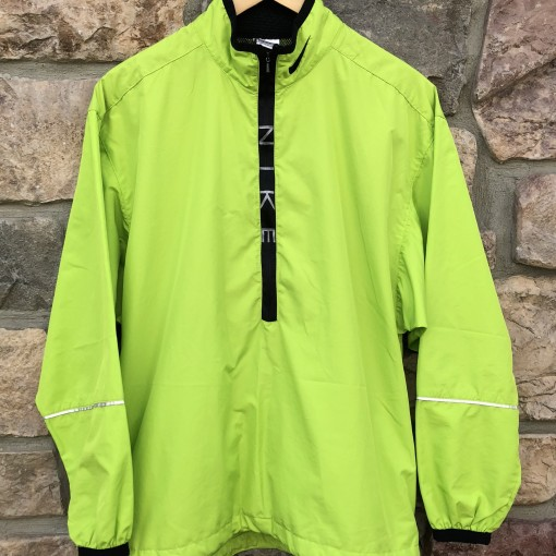 90's Nike Neon Lime Green windbreaker jacket size Medium supreme style