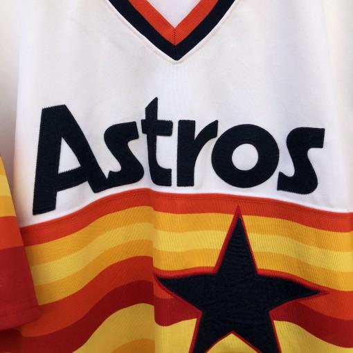 Vintage Houston Astros Tequila Sunrise throwback jersey rainbow size XXL Majestic