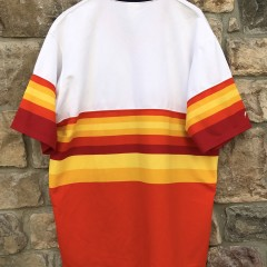 Vintage Houston Astros Tequila Sunrise throwback jersey rainbow size XXL Majestic