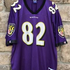 vintage Shannon Sharpe Baltimore Ravens Champion NFL jersey size 48