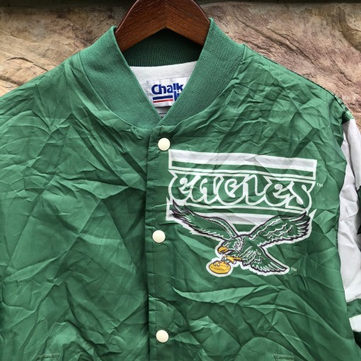 vintage 90's Philadelphia Eagles Chalkline Fanimation jacket size large original