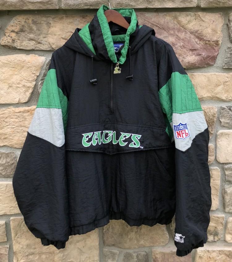 90's Philadelphia Eagles Starter Pullover NFL Jacket Size Large  hot sale