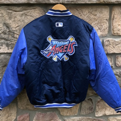 90's Anaheim Angels Starter Satin bomber jacket vintage diamond collection