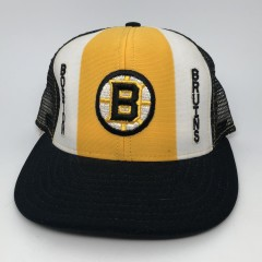 80's Boston Bruins AJD vintage mesh trucker snapback hat
