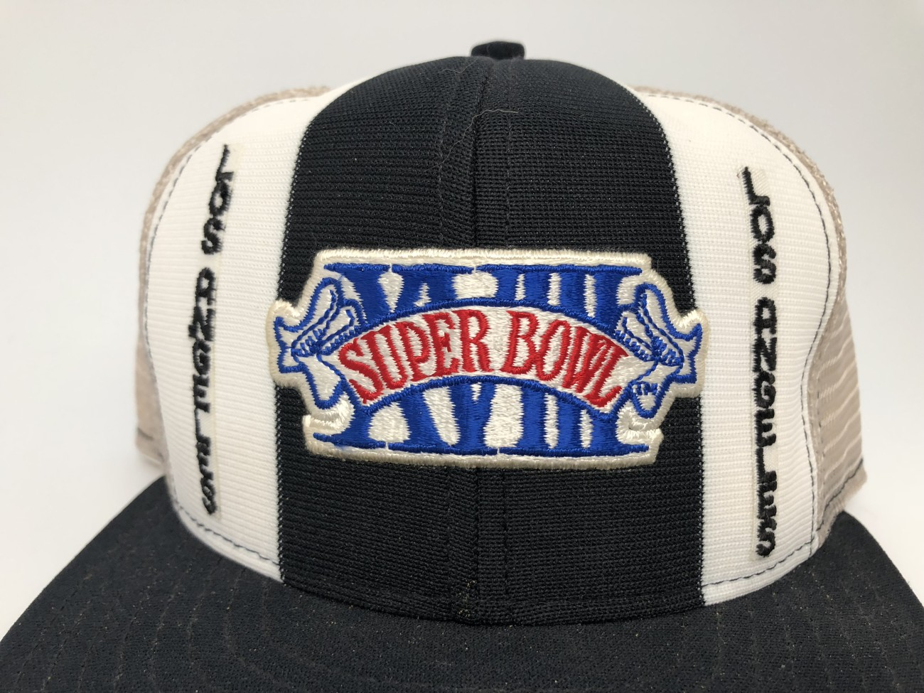 4d718c150df 1984 Super Bowl XVIII mesh snapback hat los angeles radiers washington  redskins