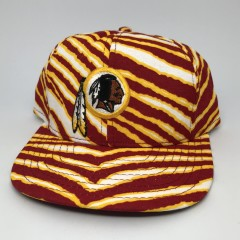 vintage 90's Washington Redskins Zubaz NFL snapback hat deadstock