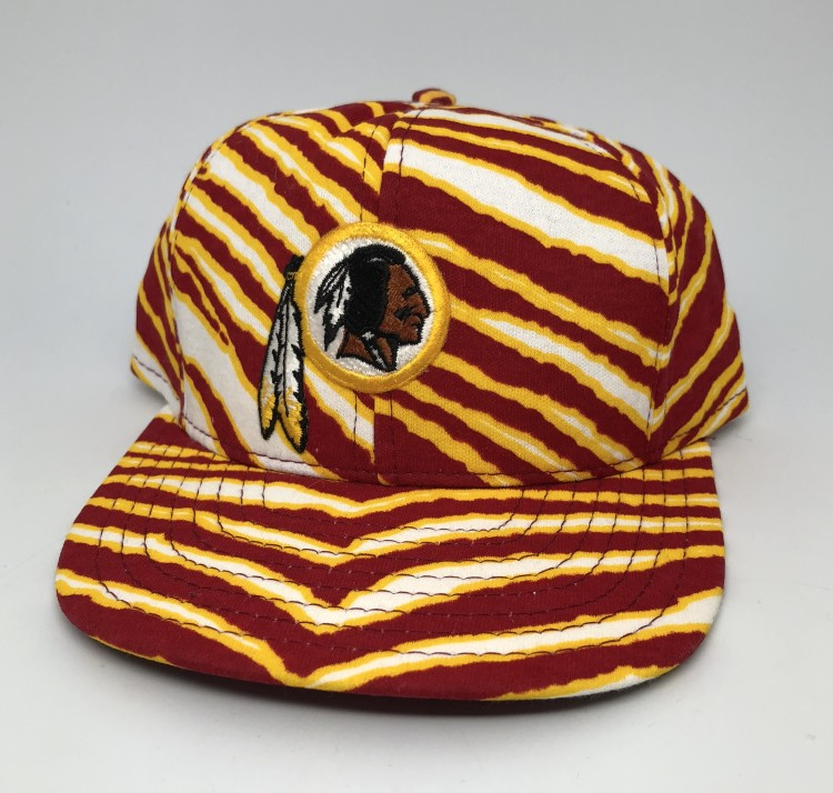 vintage 90 s Washington Redskins Zubaz NFL snapback hat deadstock 5b5534307